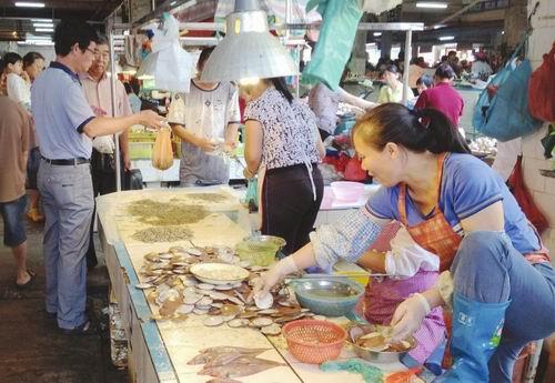 海鲜市场供应