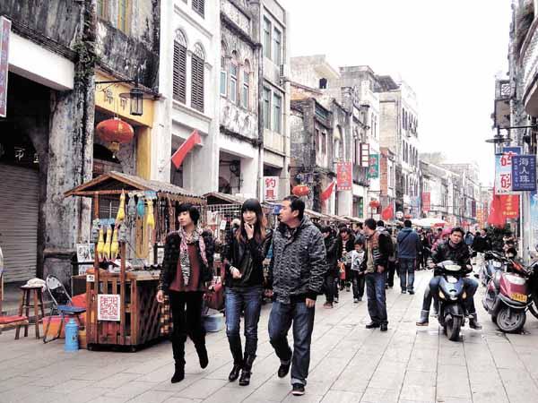 北海老街接待游客24万人次 人气十足