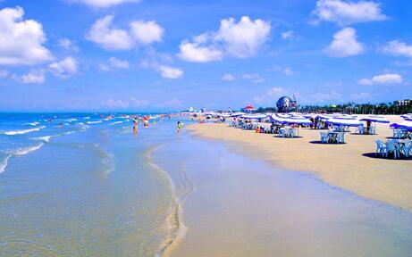 游览国家aaaa级皇牌景点【北海银滩】尽情享受阳光,海水,沙滩.